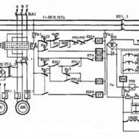Что представляет из себя принципиальная электрическая схема фрезерного станка?